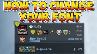 CS:GO - How to change your Font - Tutorial