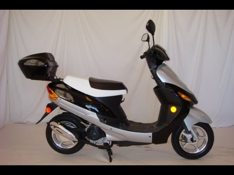 Full Assembly 50cc Scooter Moped Out of a Box (like a Pro)