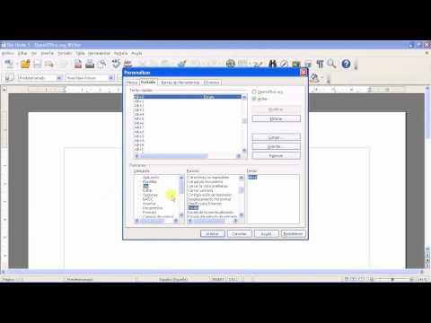 OpenOffice - Writer - Uso del teclado, atajos y combinaciones de teclas