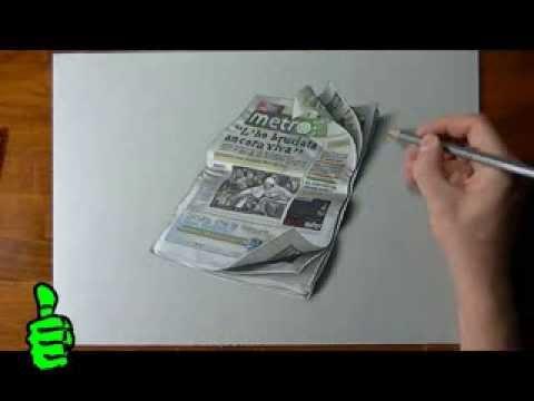 3D газета, в это трудно поверить...
