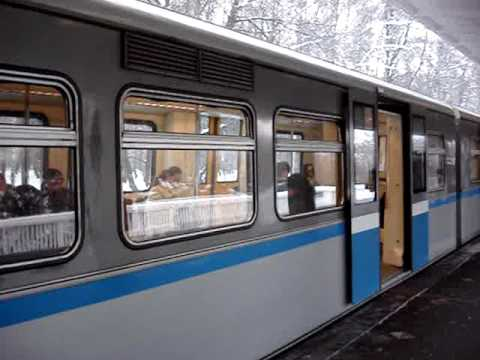 Moscow Metro in Winter