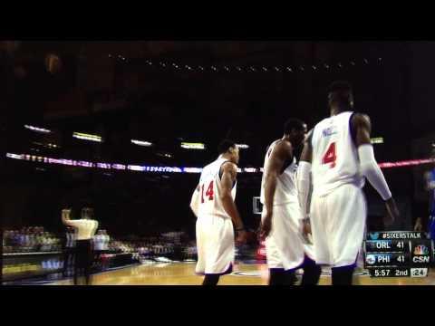 Tony Wroten to K.J. McDaniels alley-oop: Orlando Magic at Philadelphia 76ers