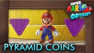 Super Mario Odyssey - All Purple Pyramid Coins (Sand Kingdom)