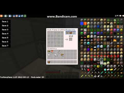 Flans Mod: bi-plane crafting