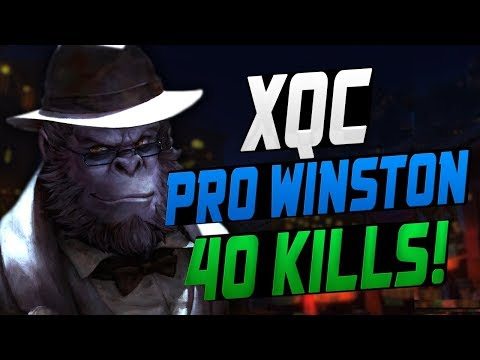DF XQC BEST WINSTON? 40 ELIMS! [ OVERWATCH LEAGUE SEASON 8 TOP 500 ]