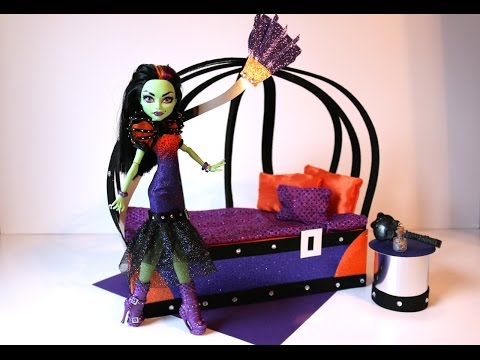 How To Make A Casta Fierce Doll Bed Tutorial - Monster High DIY Reviews!