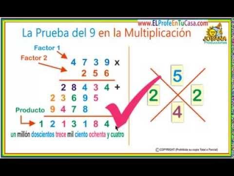 La prueba del 9 en la multiplicaci n cambiamos a youtube - Como saber si una casa es del banco ...