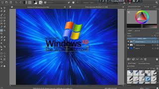 making backgrounds with windows XP