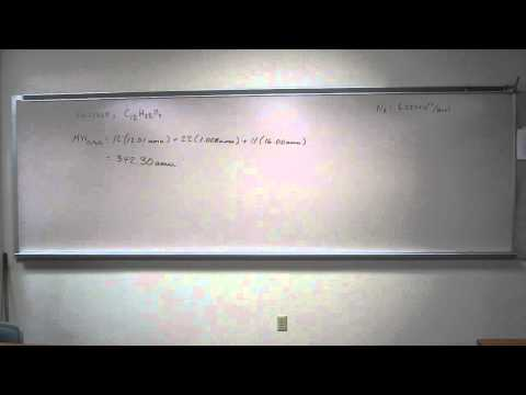 Calculate Molecular Mass and Molar Mass - Sucrose C12H22O11