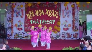 Múa Ngày Xuân Long Phụng Xum Vầy - Chồi 5 - Hội Hoa Xuân 2017 - Mầm Non Hoa Sen Buôn Ma Thuột