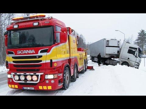 Scania 8x4 Boniface vs MAN: Heavy Recovery: Sweden