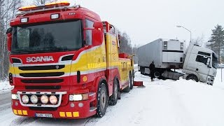 Scania 8x4 Boniface vs MAN - Heavy Recovery -  Sweden