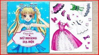 SÁCH DÁN HÌNH TRANG PHỤC CÔNG CHÚA TẬP 1 NỮ HOÀNG DẠ HỘI - Sticker dolly dressing (Chim Xinh)