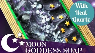 Making of Moon Goddess Cold Process Soap | 🌛🌕🌜 GYPSYFAE CREATIONS