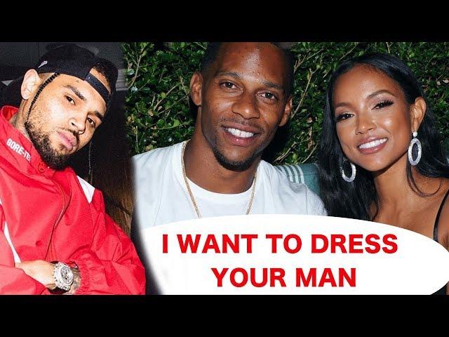 Chris Brown is shading ex girlfriend Karrueche amp Victor Cruz - He wants Victor to dress like him