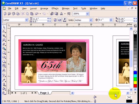 Creating a Greeting Card in CorelDraw X3