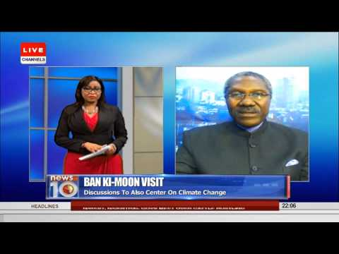 News@10: UN Sec. Gen.  Ban Ki-Moon Arrives In Nigeria 23/08/15 Pt. 1