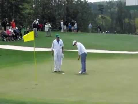 Adam Scott, Phil Mickelson, Rory McIlroy & others in Masters Golf 2014 Practice Rounds w slow motion