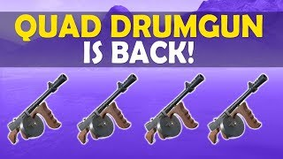 QUAD DRUM GUN IS BACK! | TILTED TOWERS DESTROYED!