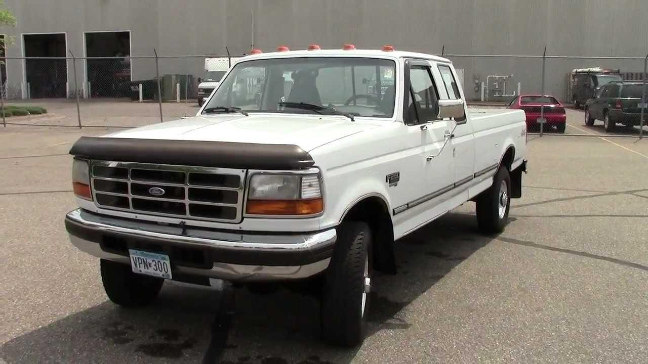 1996 ford f250 hd 4x4 ext cab long box   youtube