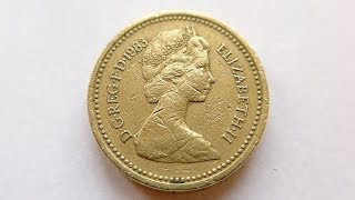 1 British Pound Coin :: United Kingdom 1983