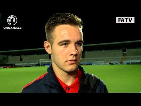 England U17s 1 Turkey 0 - winning goal scorer Adam Armstrong post match interview