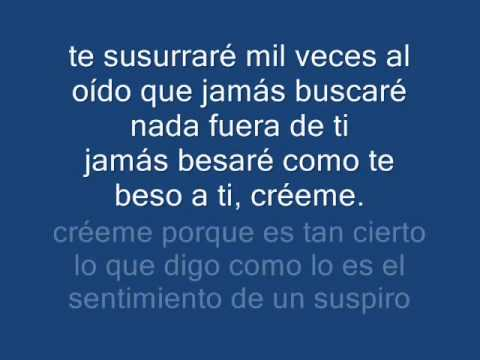 letra de cancion quiereme de: