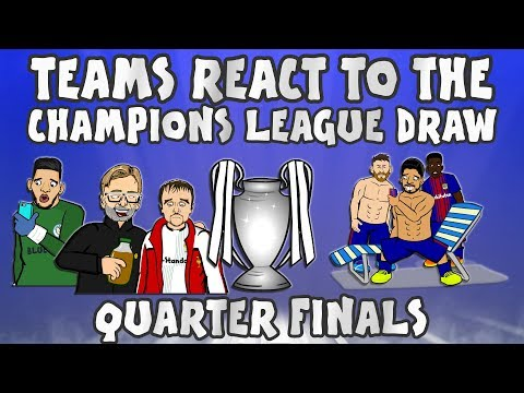 😲TEAMS REACT TO THE UCL QUARTER FINAL DRAW😲 (Champions League 2018) MP3