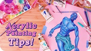 Acrylic Painting Tips & Tricks For Beginners! ✨🎨