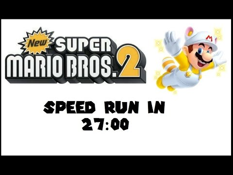 (World Record) New Super Mario Brothers 2: Any% Speed Run in 27:00