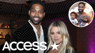 Khloe Kardashian's BF Tristan Thompson Shares First Photos Of His Daughter True & Son Prince Togethe