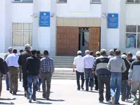 В поселке Курык прошла забастовка работников АО «Мангистаугеология»