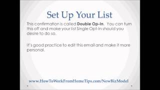 How To Setup An Email Mailing List?