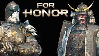 SAMURAI VS VIKINGS VS KNIGHTS For Honor PvP Gameplay PS4 Closed Alpha Test
