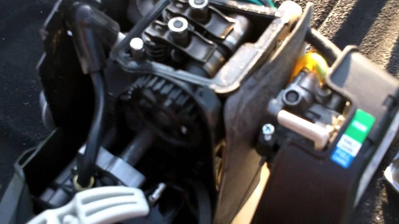 gas trimmer repair catastrophic engine failure on a ryobi 4 cycle engine youtube Basic Engine Diagram Car Engine Diagram