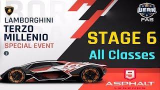 Asphalt 9   Lamborghini Terzo Millennio   STAGE 6   Aventador J  Car Hunt   All Classes   Hotel Road