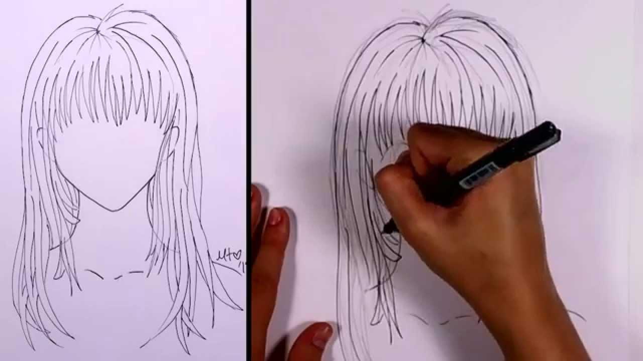 How to Draw Manga - Long Hair (girl) | MLT - YouTube