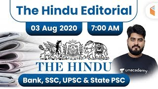 7:00 AM - The Hindu Editorial Analysis by Vishal Sir | 3 August 2020 | The Hindu Analysis