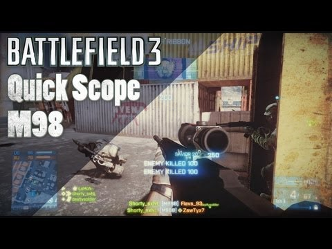 BF3   M98 Quick Scoping Fun and Tips - Battlefield 3