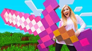 I Crafted a GIANT Real Life MINECRAFT Sword! (Minecraft in Real Life)