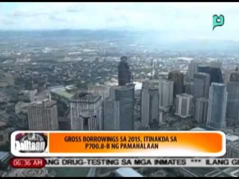 [Balitaan] Gross borrowings sa 2015, itinakda sa P700.8-B ng pamahalaan [06|23|14]