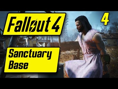 Fallout 4 Sanctuary Base - PINK DRESS BOOBIES - Fallout 4 Walkthrough Part 4 - Let's Play [PC]