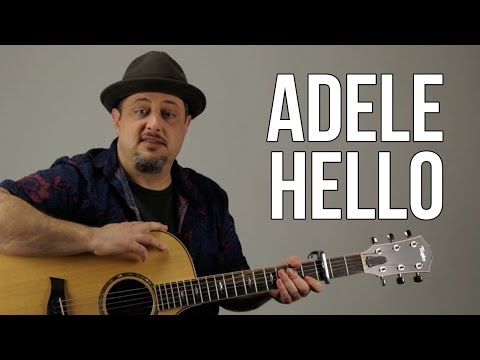 Hello By Adele Acoustic Guitar Lesson - Super Easy Beginner Acoustic Songs