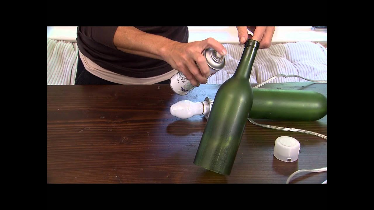 Dramatic wine bottle light fixture youtube for How to make a hanging light fixture