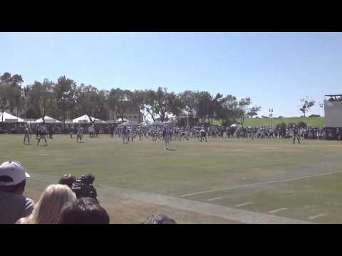Raymond Radway Dominating With Speed @ Dallas Cowboys Blue and White Scrimmage 8/5/2012