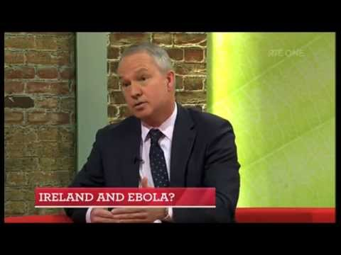 Dr Chris Luke, Consultant in Emergency Medicine, on The Ebola Virus, on RTÉ's Today Show.