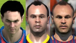 Iniesta transformation from FIFA 04 to FIFA 18