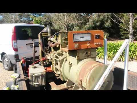 31.25kva MacFarlane generator with 80hp Ford Lehman diesel engine 2712E