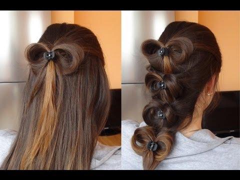 Бант из волос | Прическа бант