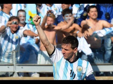 Gol de Messi a Iran por diferentes relatores   Brasil 2014